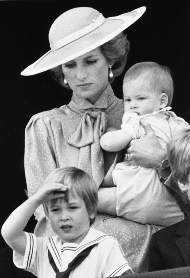 Prince William is seen making a royal salute as he watches the scene of Trooping the Colour from the balcony of Buckingham Palace with his brother Harry and mother Princess Diana in London in this June 15, 1985 file photograph. Britain's Prince William is to marry his long-term girlfriend Kate Middleton next year, Buckingham Palace said on November 16, 2010. REUTERS/Roy Letkey/Files