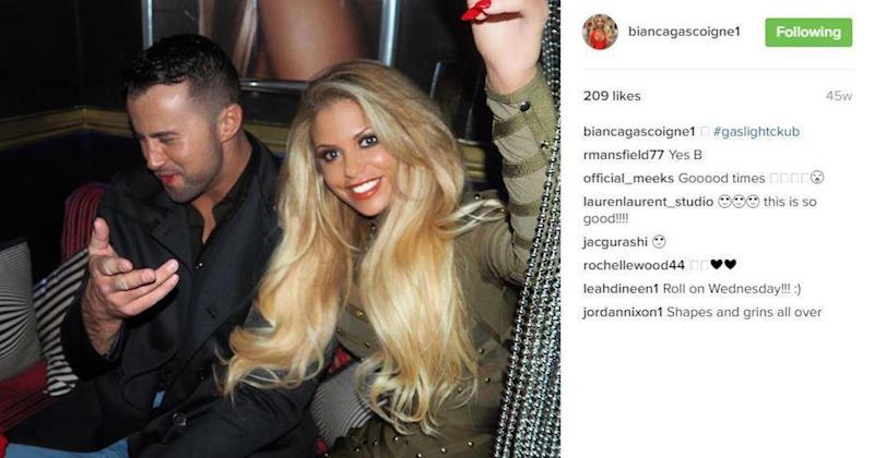 Bianca dumped her cagefighter boyfriend after falling for Jamie (Copyright: Instagram/Bianca Gascoigne)