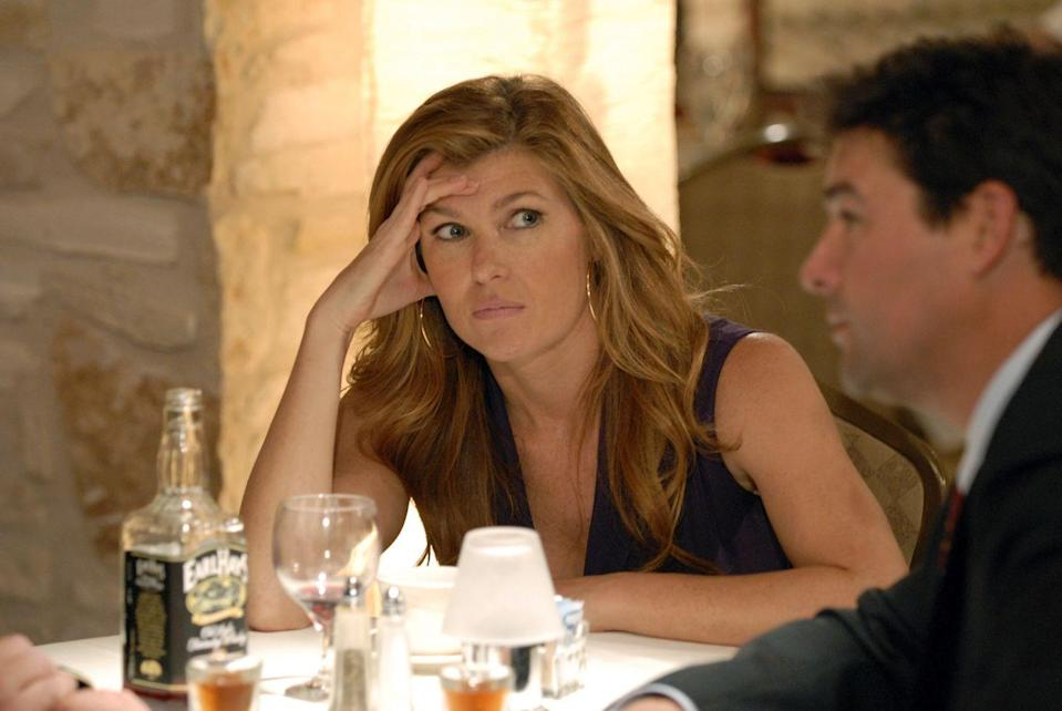 """<p>As Tami Taylor, a.k.a. """"Mrs. Coach,"""" Britton was one of the only characters who lasted the entire series. After portraying Sharon Gaines (the coach's wife) in the 2004 film adaptation of the book that was the basis of the series, Britton had to be convinced to take on the role by the show's director, Peter Berg. </p><p>""""He said, 'Connie, you've got to do the show!"""" she told <a href=""""https://www.youtube.com/watch?v=zS4u8OlYYYY"""" rel=""""nofollow noopener"""" target=""""_blank"""" data-ylk=""""slk:The Off-Camera Show"""" class=""""link rapid-noclick-resp"""">The Off-Camera Show</a>. """"We're gonna make this character so amazing!"""" </p>"""