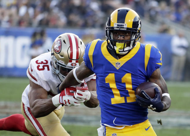 The Los Angeles Rams traded wide receiver Tavon Austin to the Dallas Cowboys on Saturday. (AP)