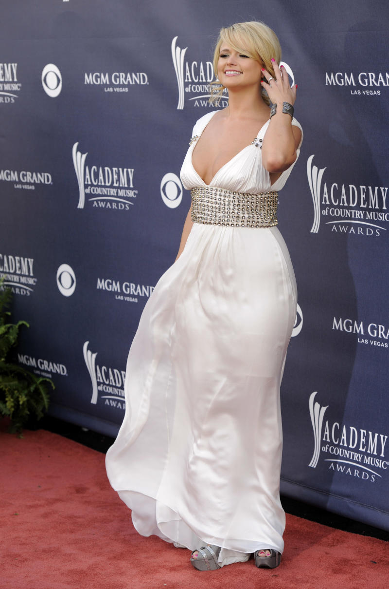 Miranda Lambert arrives at the 46th Annual Academy of Country Music Awards in Las Vegas on Sunday, April 3, 2011. (AP Photo/Chris Pizzello)