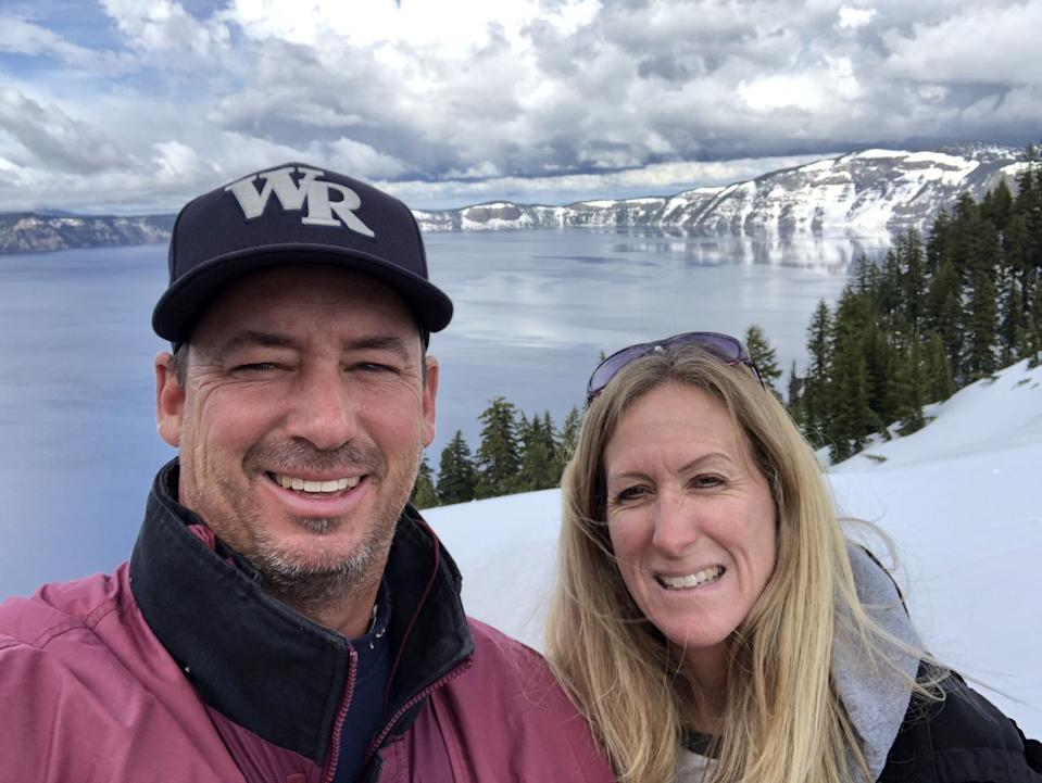 """Casey Burrill and wife Kristin are part of a family that includes six teachers teaching in the William S. Hart Union High School District. <span class=""""copyright"""">(Corey Burrill)</span>"""