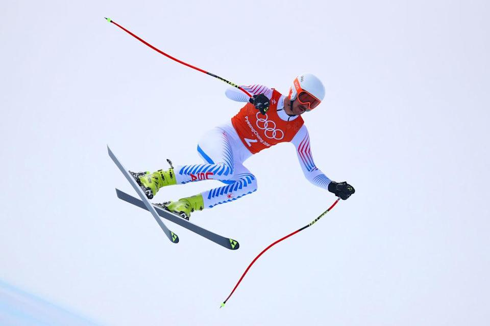 Bryce Bennett had seventh- and sixth-place finishes in his first two Olympic downhill training runs. (Getty)