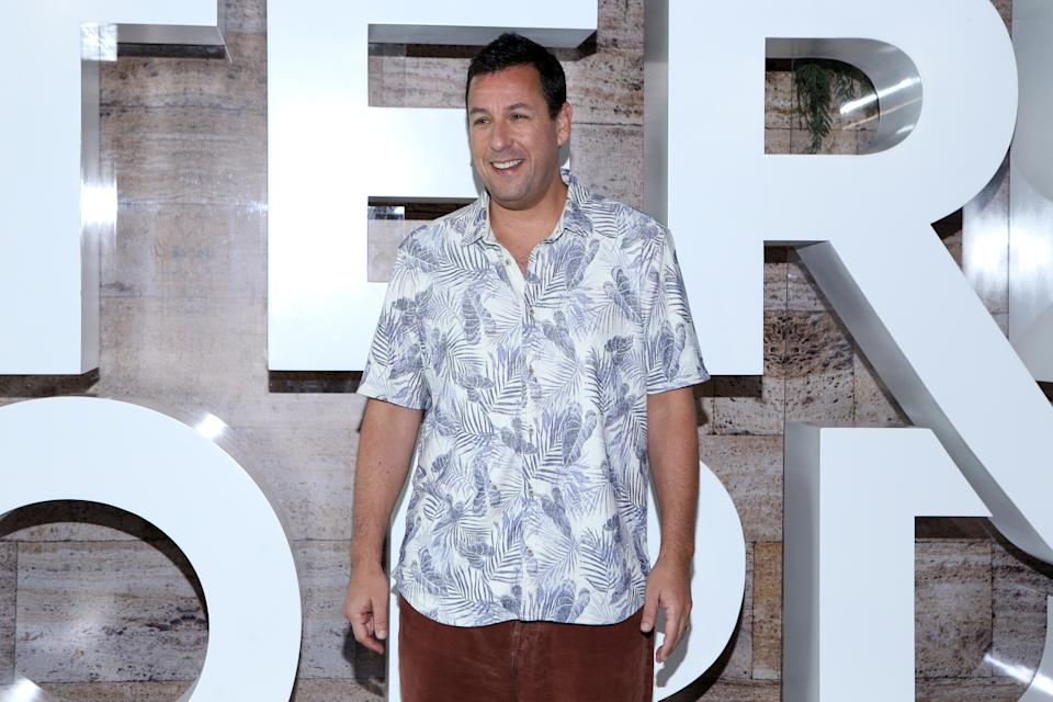 MEXICO CITY, MEXICO - JUNE 13: Adam Sandler poses for photos during a press conference to present the film 'Murder Mystery at St. Regis Hotel on June 13, 2019 in Mexico City, Mexico. (Photo by Medios y Media/Getty Images)