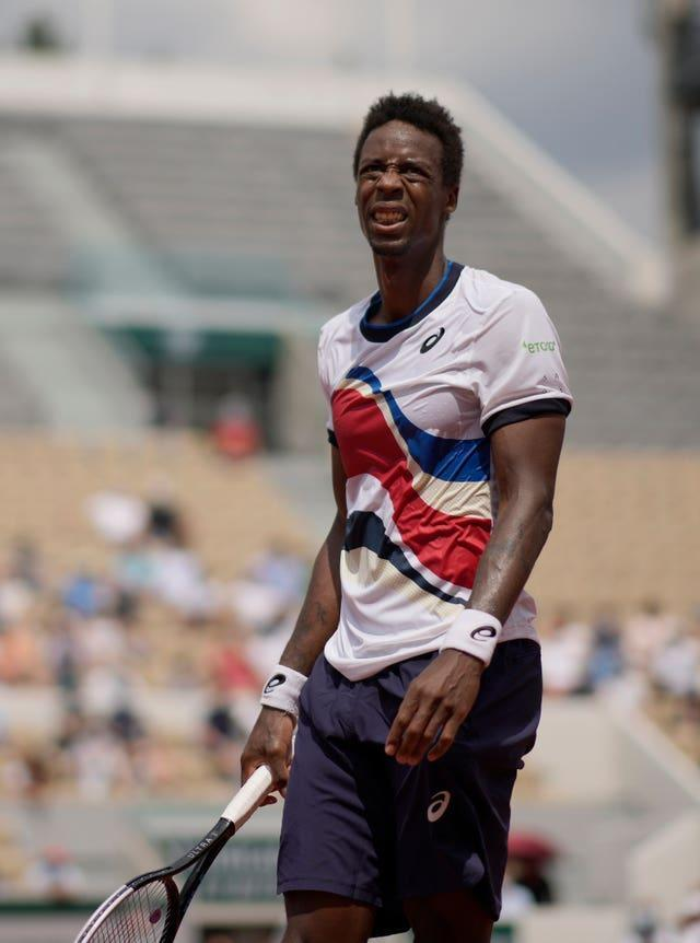 Gael Monfils was among the French players to depart the tournament on Thursday