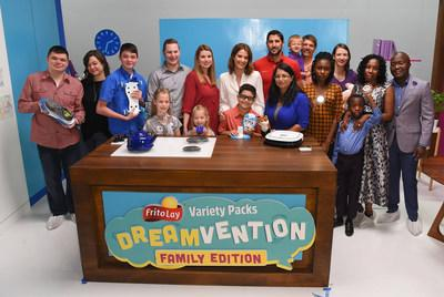 Cobie Smulders Meets the Five Finalist Families of the Frito-Lay Variety Packs Dreamvention Contest.