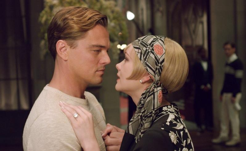 Carey Mulligan as Daisy Buchanan, right, and Leonardo DiCaprio as Jay Gatsby in a scene from The Great Gatsby. Picture: AP