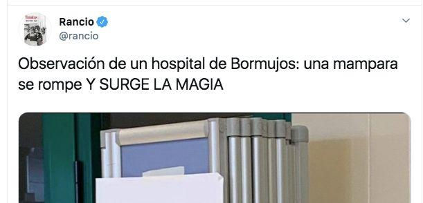 El cartel encontrado en un hospital.