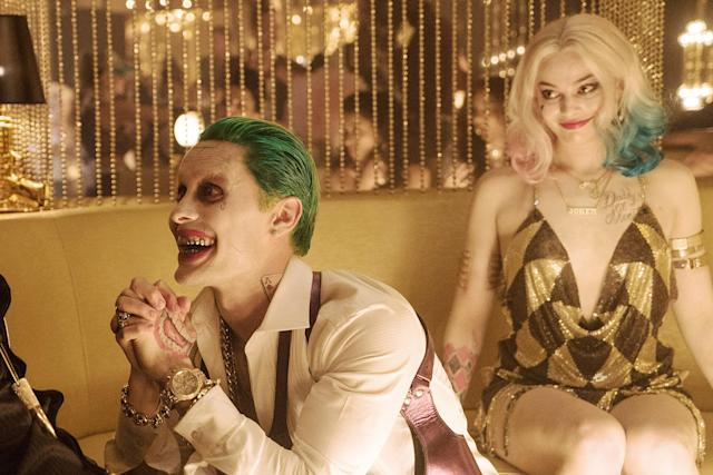 "<p>The iconic Batman villains played by Margot Robbie and Jared Leto have a relationship so toxic, it literally began in <a href=""https://www.youtube.com/watch?v=HTYM78H6HMo"" rel=""nofollow noopener"" target=""_blank"" data-ylk=""slk:a vat of brain-warping chemicals"" class=""link rapid-noclick-resp"">a vat of brain-warping chemicals</a>. He's a master manipulator, she's a lovestruck schizophrenic, and together, they're the most codependent mass murderers since Bonnie and Clyde. (Photo: Clay Enos/Warner Bros./courtesy Everett Collection) </p>"