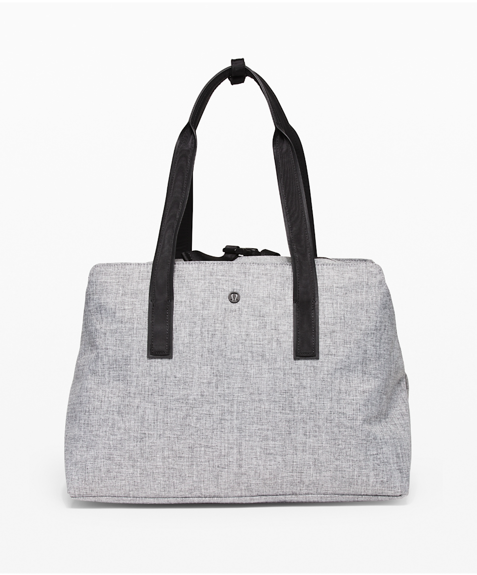 grey Lululemon bag