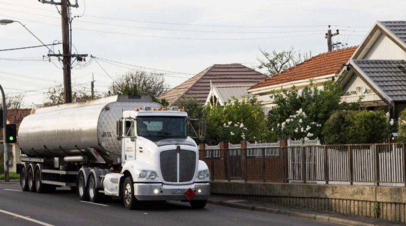 There are concerns over the number of truck passing through residential streets. Source: IWAQG report
