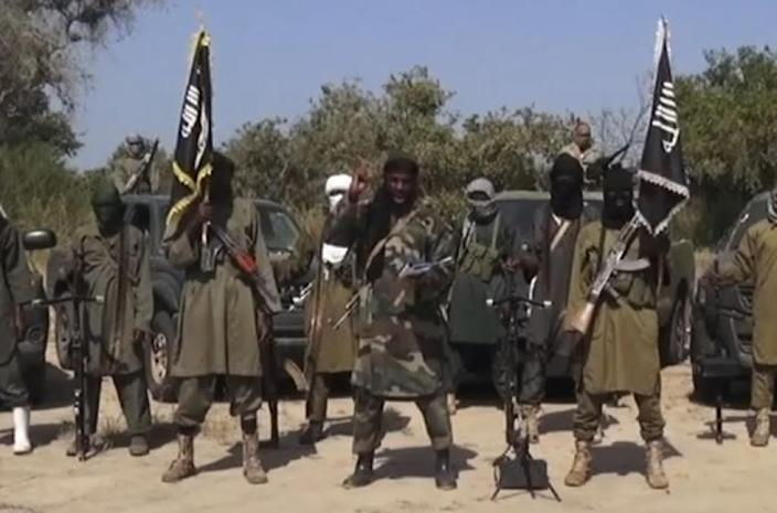Boko Haram leader Abubakar Shekau claimed responsibility for the mass abductions and vowed to sell the girls as slave brides (AFP Photo/)