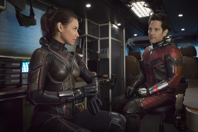 Evangeline Lilly and Paul Rudd in <em>Ant-Man and the Wasp.</em> (Photo: Disney/Marvel Studios via AP)
