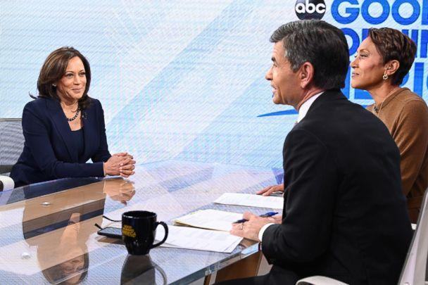 PHOTO: Senator Kamala Harris appears on 'Good Morning America,' Jan. 21, 2019. (Lorenzo Bevilaqua/ABC)