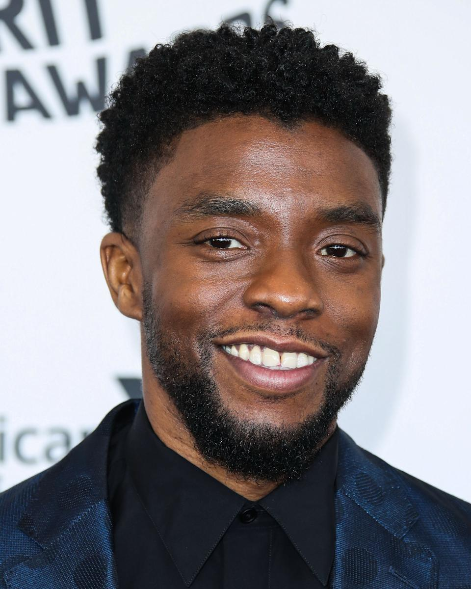 (FILE) Chadwick Boseman Dead at 43 After Battle With Colon Cancer. SANTA MONICA, LOS ANGELES, CALIFORNIA, USA - MARCH 03: Actor Chadwick Boseman arrives at the 2018 Film Independent Spirit Awards held at Santa Monica Beach on March 3, 2018 in Santa Monica, Los Angeles, California, United States. (Photo by Xavier Collin/Image Press Agency/Sipa USA)