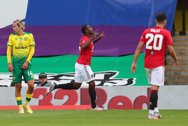 The Red Devils looked on course for the last four after Odion Ighalo's goal, only for Todd Cantwell to equalise and force extra-time (Getty Images)