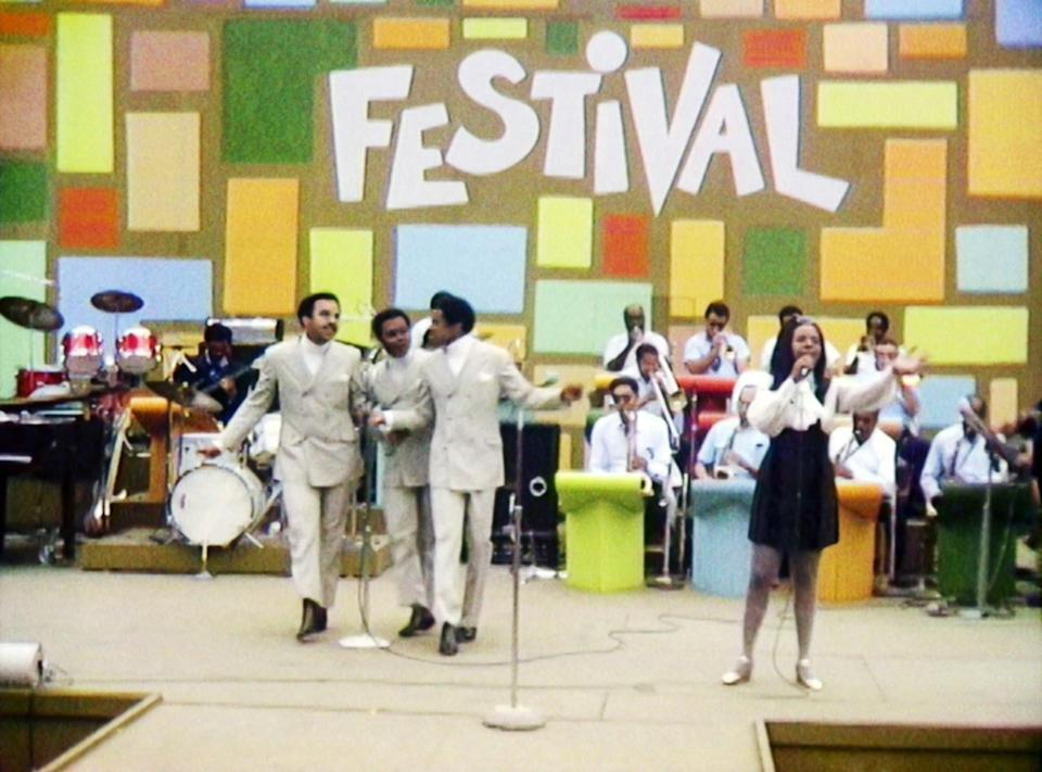 Gladys Knight and the Pips performing at the Harlem Cultural Festival in 1969