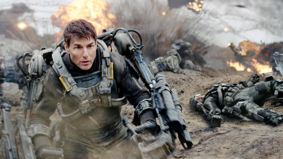 <p> Edge of Tomorrow, or Live Die Repeat, or Live Die Repeat: Edge of Tomorrow (is anyone entirely sure?) is an alien-fighting Groundhog Day. Tom Cruise plays Major William Cage, a soldier battling in an alien-infested post-apocalyptic wasteland. Cage's day resets each time he dies and he goes back to training with Special Forces Agent Rita (Emily Blunt) – but he's desperate for a way out of the cycle. In this mind-bending time adventure, every encounter gets the pair one step closer to defeating the enemy as they attempt to take the fight straight to the aliens. Whilst it might not always make sense, it's a heck of a lot of fun. </p>