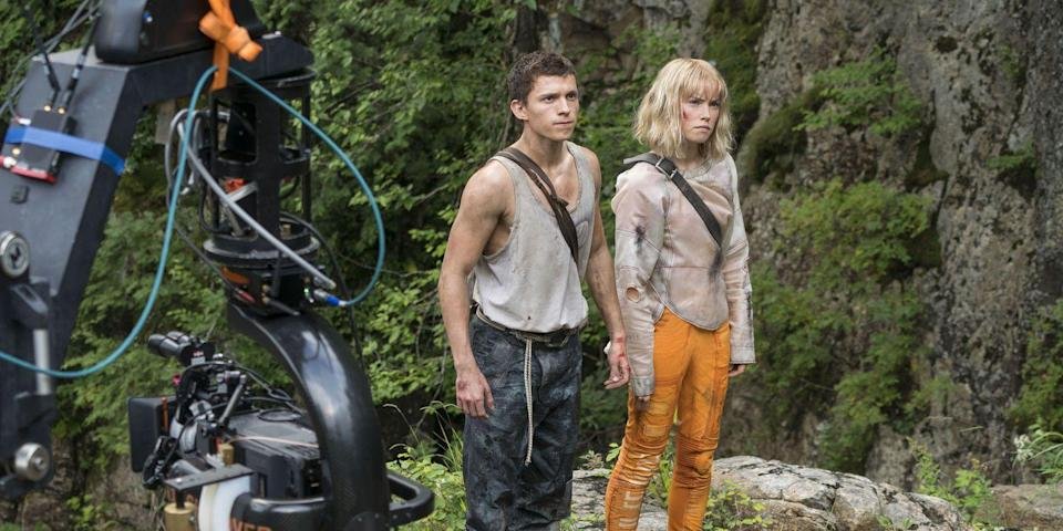 Tom Holland and Daisy Ridley in Chaos Walking (Credit: Lionsgate)
