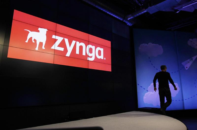 FILE- In this Tuesday, June 26, 2012 file photo, Zynga CEO Mark Pincus walks off the stage after an announcement of new games at Zynga headquarters in San Francisco. Zynga's stock is tanking after the online game maker reported a loss in the second quarter on Wednesday, July 25, 2012, with adjusted earnings and revenue below Wall Street's already-low expectations. (AP Photo/Paul Sakuma, File)
