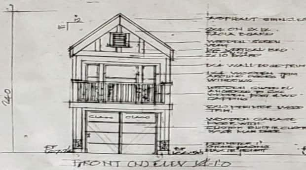 Architectural mock-up for tiny house development at 1912 William Street.