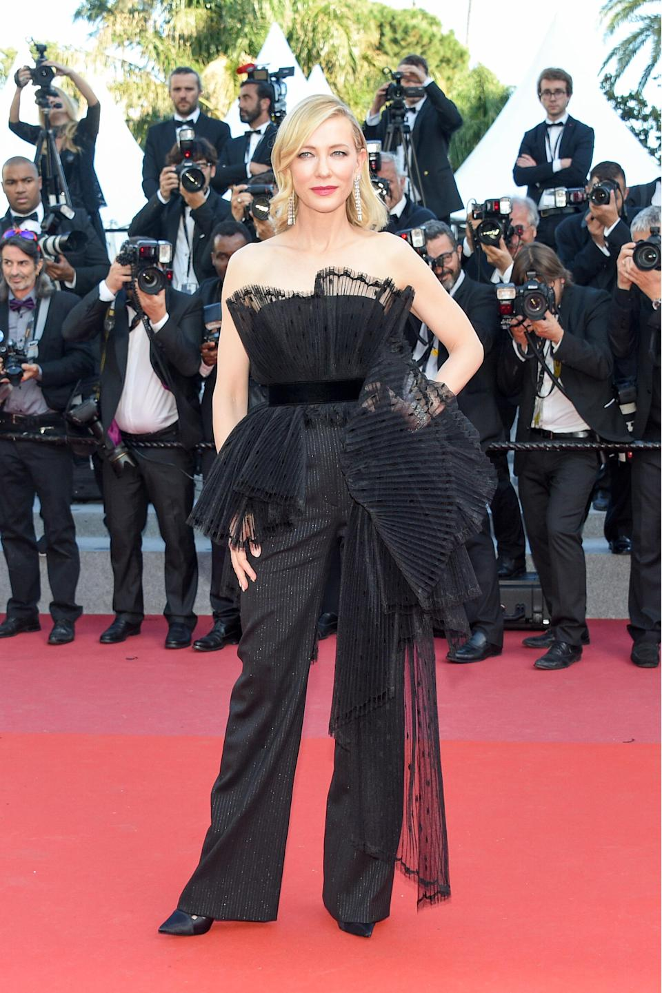 <p>Cate Blanchett donned a Givenchy jumpsuit for the screening of 'Capharnaum' and hands up, who else thought she looked incred? [Photo: Getty] </p>