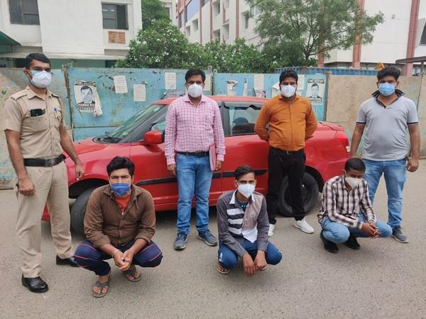 The three accused in the case of preparing fake COVID test reports (Photo/ANI)
