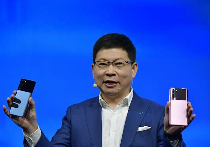 Richard Yu, who is in charge of Huawei's consumer business group, spoke at the international electronics fair IFA in Berlin (AFP Photo/Tobias SCHWARZ)
