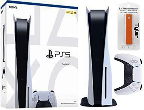 PlayStation 5 Disk Console & Tyler 2 in 1 Screen Cleaner Bundle