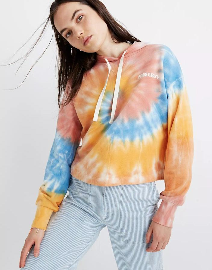 "<h3>Madewell x Free & Easy® Tie-Dye Hoodie Sweatshirt</h3><br>2020 will forever be known as the year that <a href=""https://www.refinery29.com/en-us/best-womens-loungewear-gifts"" rel=""nofollow noopener"" target=""_blank"" data-ylk=""slk:loungewear"" class=""link rapid-noclick-resp"">loungewear</a> evolved from off-duty to on-repeat. ""A tie dye hoodie will become their go-to comfy gear for the upcoming chilly months,"" says Stardust.<br><br><strong>Madewell</strong> x Free & Easy® Tie-Dye Hoodie Sweatshirt, $, available at <a href=""https://go.skimresources.com/?id=30283X879131&url=https%3A%2F%2Fwww.madewell.com%2Fmadewell-x-free-amp%253B-easyreg%253B-tie-dye-hoodie-sweatshirt-AN126.html"" rel=""nofollow noopener"" target=""_blank"" data-ylk=""slk:Madewell"" class=""link rapid-noclick-resp"">Madewell</a>"
