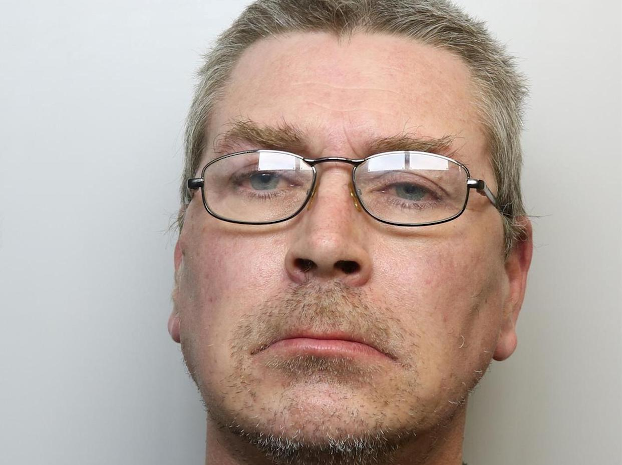 Damian Southern, 44, has been jailed after assaulting his mum. (SWNS)