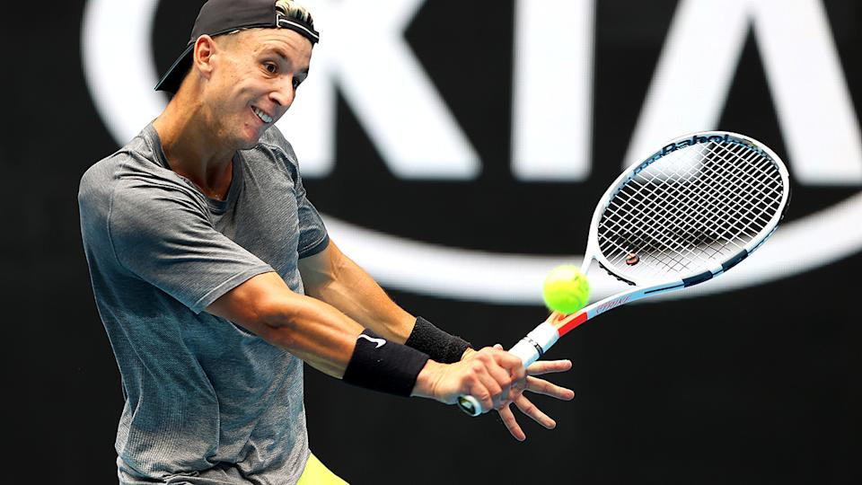 Andrew Harris, pictured here in action at the 2020 Australian Open.