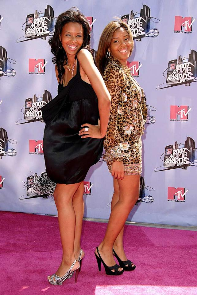 "MTV reality stars, Angela and Vanessa Simmons strike poses at the MTV Movie Awards. Steve Granitz/<a href=""http://www.wireimage.com"" target=""new"">WireImage.com</a> - June 3, 2007"