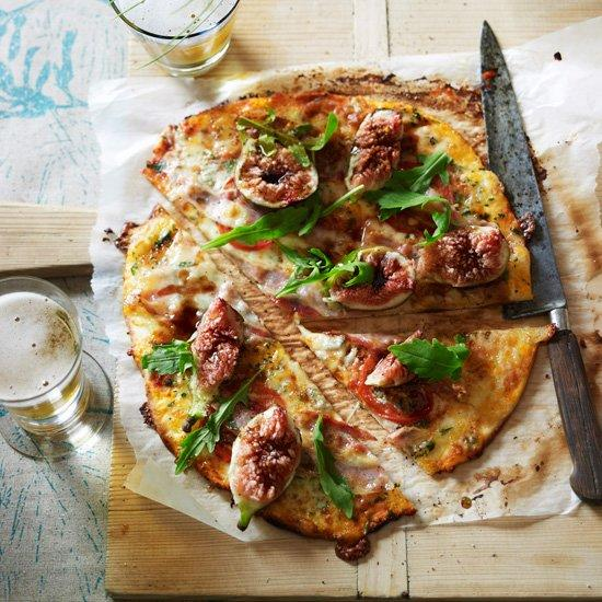 "<p>Since this pizza has a lot going on—from creamy cheese to sweet figs—pair it with a refreshing lager, like Tasmania's James Boag's. A sparkling rosé would also work.</p><p><a href=""https://www.foodandwine.com/recipes/gorgonzola-fig-and-pancetta-pizza"">GO TO RECIPE</a></p>"