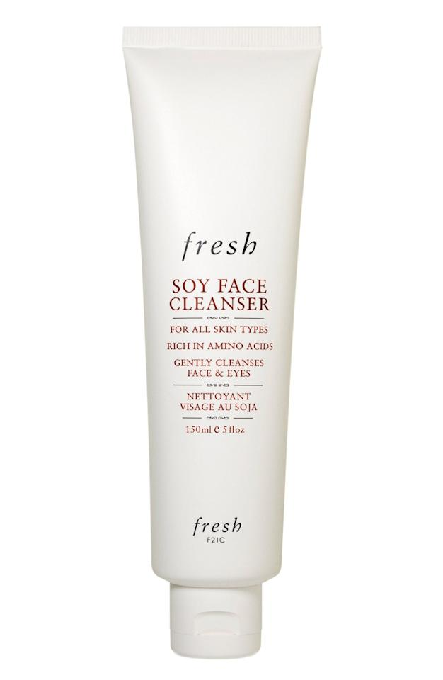 """<p><a href=""""https://www.popsugar.com/buy/Fresh-Beauty-Soy-Cleanser-335955?p_name=Fresh%20Beauty%20Soy%20Cleanser&retailer=shop.nordstrom.com&pid=335955&price=38&evar1=bella%3Aus&evar9=36364825&evar98=https%3A%2F%2Fwww.popsugar.com%2Fbeauty%2Fphoto-gallery%2F36364825%2Fimage%2F44903727%2FCleanser&list1=makeup%2Cbeauty%20products%2Cbeauty%20how%20to%2Cbeauty%20shopping%2Cbeauty%20tips%2Cfresh%20beauty%2Cskin%20care&prop13=mobile&pdata=1"""" rel=""""nofollow"""" data-shoppable-link=""""1"""" target=""""_blank"""" class=""""ga-track"""" data-ga-category=""""Related"""" data-ga-label=""""https://shop.nordstrom.com/s/fresh-soy-face-cleanser/3469497"""" data-ga-action=""""In-Line Links"""">Fresh Beauty Soy Cleanser</a> ($38) </p>"""