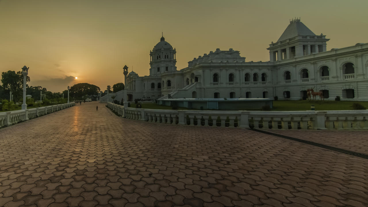 The Ujjayanta Palace (Nuyungma in Kokborok language) is a museum and the former palace of the Kingdom of Tripura situated in Agartala, which is now the capital of the Indian state of Tripura.