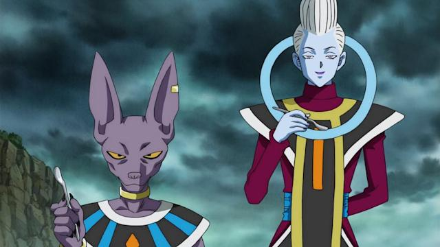 Beerus and Whis in <em>Dragon Ball Z Kai</em>. (Photo: Fuji TV/Adult Swim)