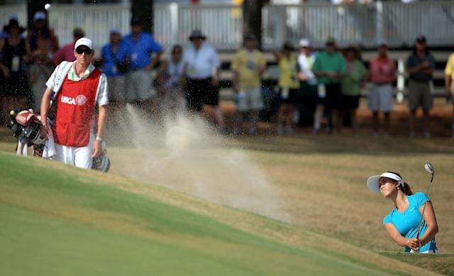 Michelle Wie at the 69th U.S. Women's Open, Pinehurst Resort & Country Club, North Carolina, June 22, 2014 (AFP Photo/David Cannon)