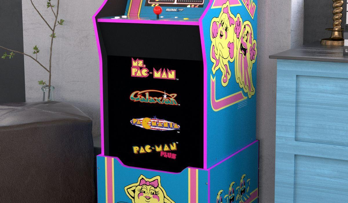 Once you master Ms. Pac-Man, you can try your hand at Pac-Mania, Pac-Man Plus and Galaxian. (Photo: Arcade1up)