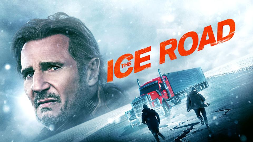 The Ice Road takes place after a remote diamond mine collapses in North Canada and ice road driver (Neeson) must lead an impossible rescue mission over a frozen ocean to save the trapped miners. (Amazon Prime Video)