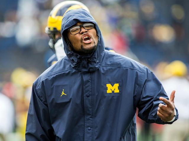 Michigan defensive lineman Rashan Gary was selected by the Packers in the first round. (AP)