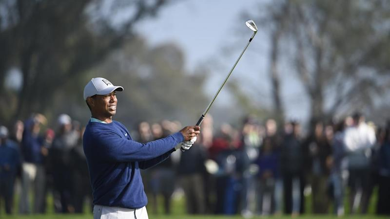 Tiger Woods is within striking distance at Torrey Pines
