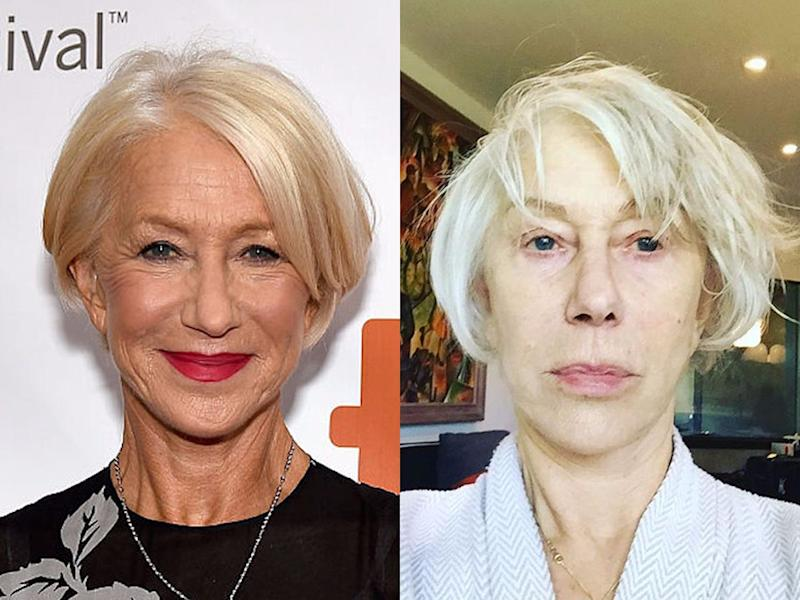helen mirren no makeup