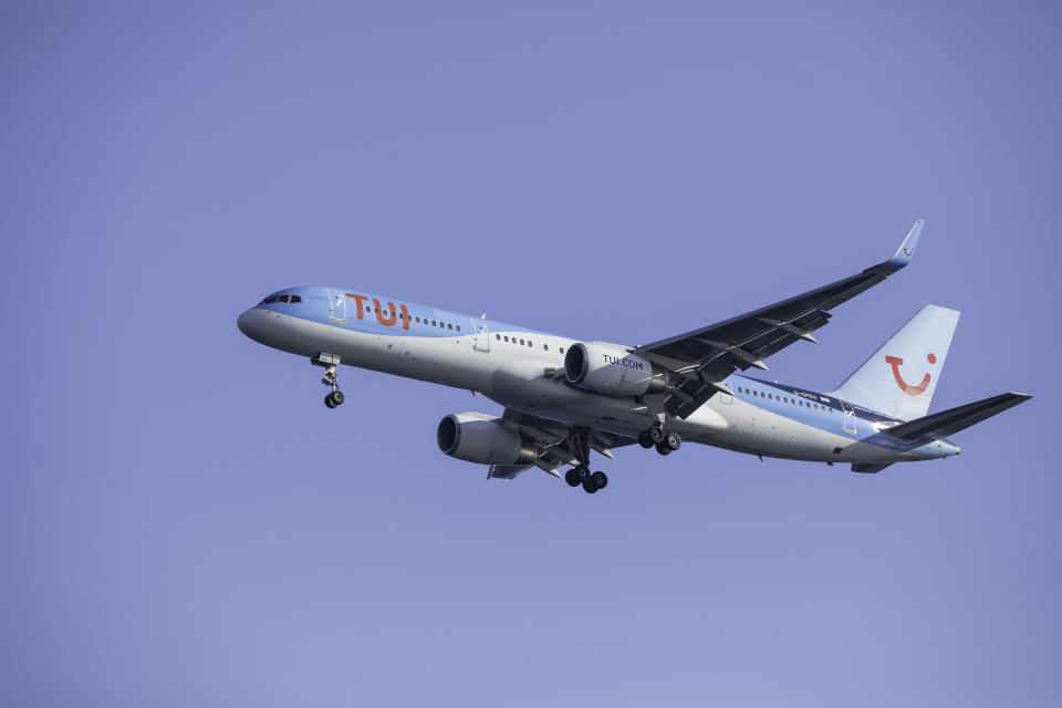 A passenger airplane from TUI Airways. Photo: Getty