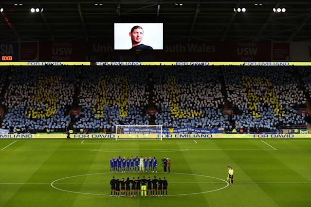 Fans and players paying tribute to Emiliano Sala following his death.