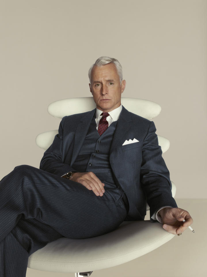 "John Slattery stars as Roger Sterling in ""<a target=""_blank"" href=""http://tv.yahoo.com/mad-men/show/39828"">Mad Men</a>."""