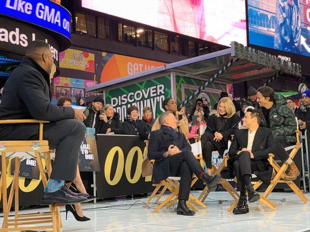 PHOTO: The stars and director of James Bond 'No Time to Die' discuss the trailer for the new movie with 'Good Morning America.' (ABC News)