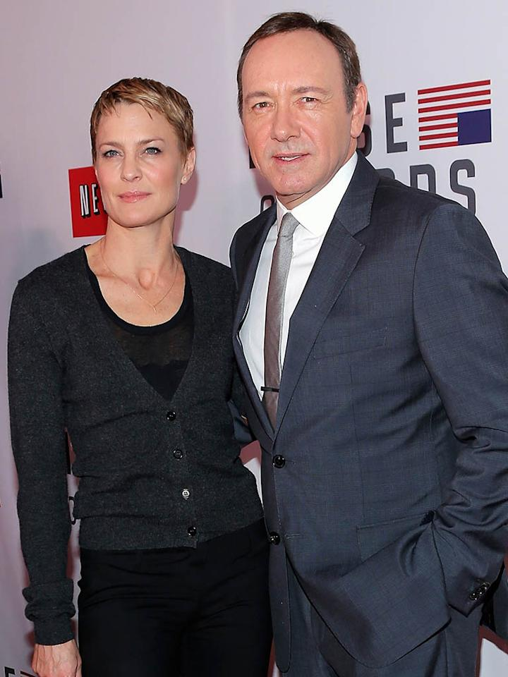 """""""House of Cards"""" stars Robin Wright and Kevin Spacey are guests of Bloomberg."""