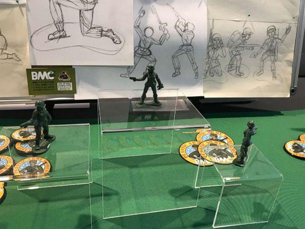 PHOTO: BMC Toys displays its Plastic Army Women at the 2019 Chicago Toy Soldier Show. (Jeff Imel)