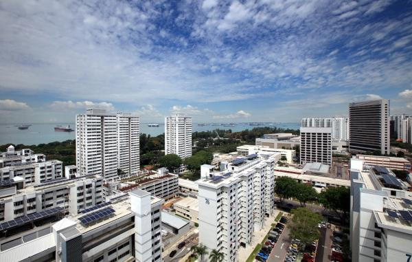 High-angle shot of Marine Parade Central and Parkway Parade